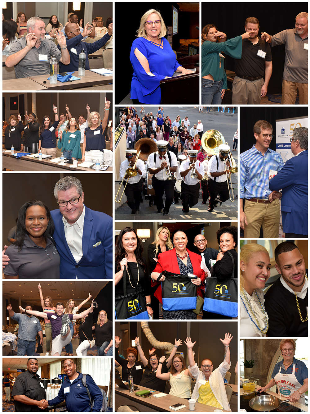 Collage of photos from Arlington Properties New Orleans Conference